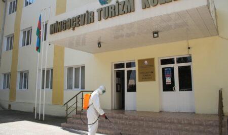 Mingəçevir Turizm Kollecində  növbəti  tibbi-profilaktik və dezinfeksiya işləri aparılıb.